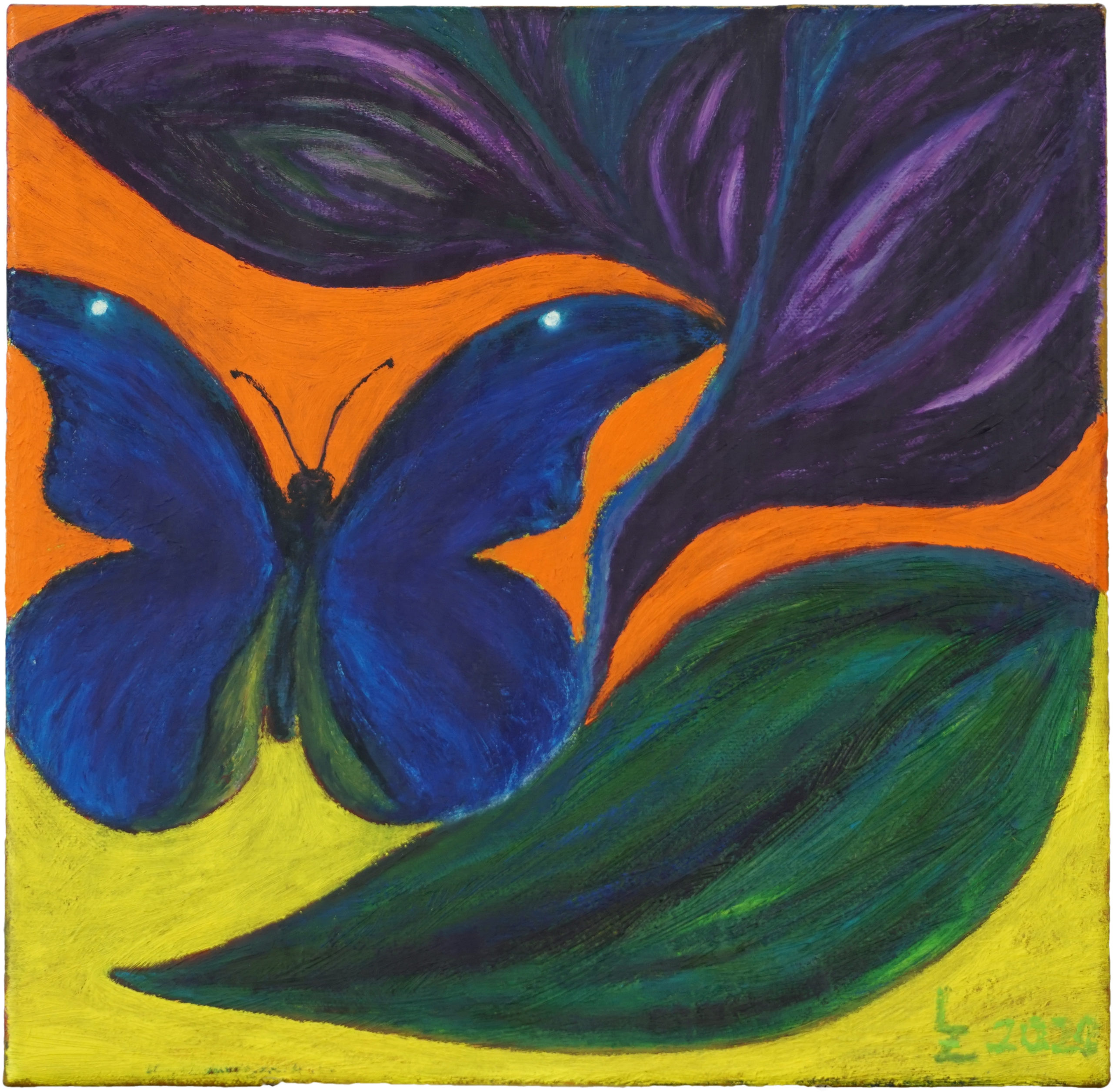 Blume mit Schmetterling Kopie