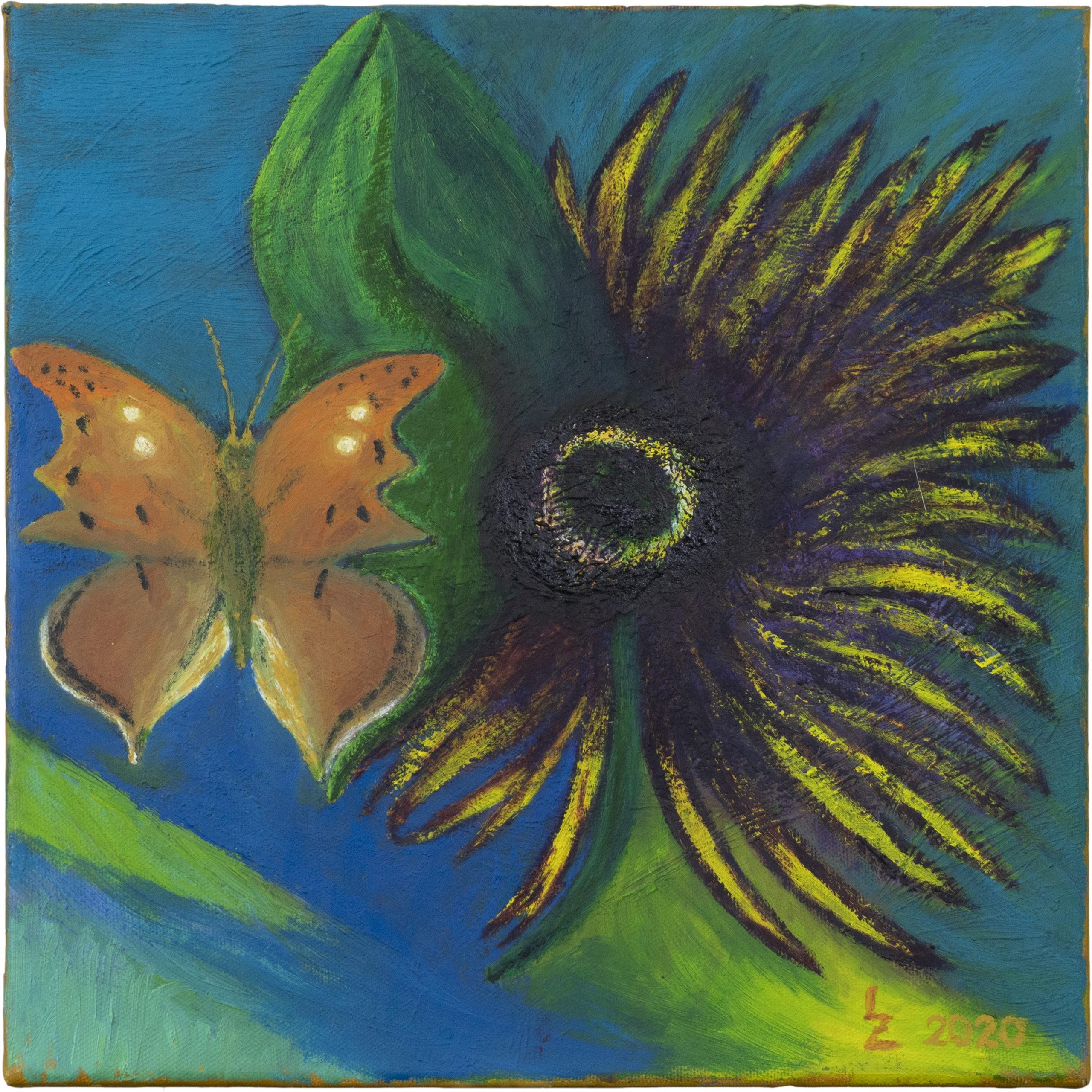 Reserveblume mit Schmetterling